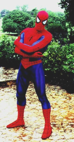 Spiderman costume for AGF ad