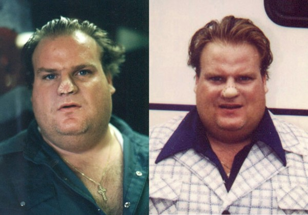 Dirty Work: Chris Farley with nose prosthetics