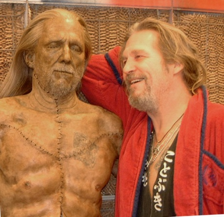 Jeff Bridges with leather alter ego
