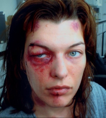 .45:  Milla Jovovich after a beating